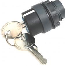 КПЕ 3111 -К черный 1но+1нз Ключ с фикс 2-поз IP40