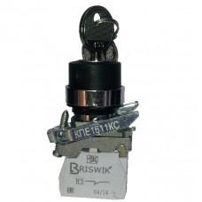 КПЕ 1111 -КС черный 1но+1нз Ключ с фикс 2-поз IP40
