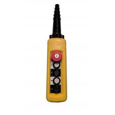 ПКТ-40-1Б-CК (XACA4713.SК.BR ) 4 элемента управления, 1НО+1НО+1НО+1НО+1НЗ (аварийный стоп с ключом)