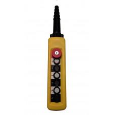 ПКТ-60-1Б-CК (XACA6713.SК.BR) 6 элемента управления, 1НО+1НО+1НО+1НО+1НО+1НО+1НЗ (аварийный стоп с ключом)