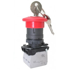 КМЕ 5101м -К красный 0но+1нз Гриб ключ с фикс IP40