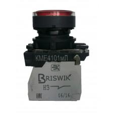 КМЕ 4110м -Л 220В зелёный 1но+0нз Цилиндр IP40 с Инд