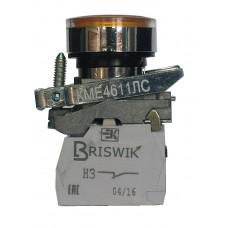 КМЕ 4101м -ЛС 220В жёлтый 0но+1нз Цилиндр IP40 с Инд
